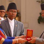 President Bhandari awards CA members with 'CA medal'