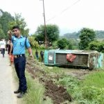 13 injured in bus accident